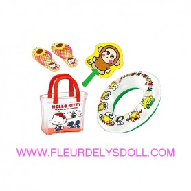 SET DE PLAGE HELLO KITTY REMENT KAWAII MINIATURE REMENT RE-MENT DOLL STODOLL OB11 AMYDOLL MIDDIE BLYTHE BARBIE