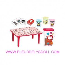 TABLE VERRES JUS DE FRUIT JEU MEMORY HELLO KITTY REMENT KAWAII MINIATURE STODOLL OB11 LATI YELLOW PUKIFEE MIDDIE BLYTHE