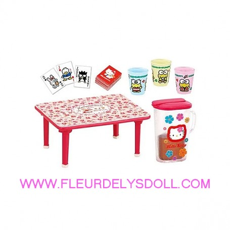 HELLO KITTY MINIATURE TABLE MEMORY CARDS FRUIT JUICE REMENT DOLL STODOLL OB11