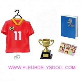 SOCCER JERSEY WORLD CUP PANINI MEN'S ROOM REMENT RE-MENT MINIATURE FOR DOLL DIORAMA PHICEN BLYTHE PULLIP NENDOROID