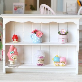 SHABBY WHITE DRESSER TOP SHELVES MINIATURE DOLLHOUSE DIORAMA BJD STODOLL BLYTHE BARBIE PUKIFEE LATI YELLOW FURNITURE