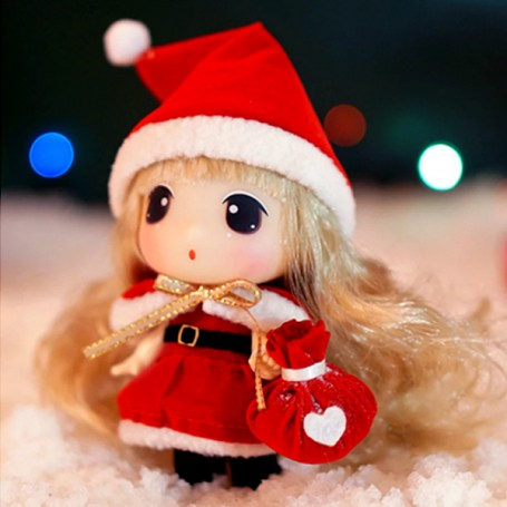 "DDUNG 9 CM (3.5"") LOVELY DOLL GREAT CHRISTMAS GIFT IN HER CLEAR BIG BALL"