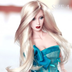 DOLL WIG MONIQUE PRETTY GIRL BLOND BROWN FOR BARBIE FASHION ROYALTY RILEY DOLLS ...