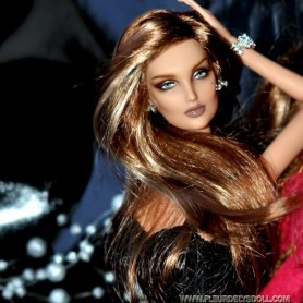 PERRUQUE DOLL WIG MONIQUE PRETTY GIRL GOLDEN AUBURN BLOND POUR POUPEE BARBIE FASHION ROYALTY RILEY DOLLS ...