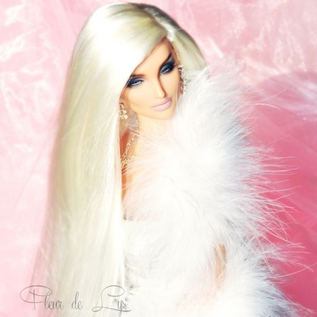 DOLL WIG MONIQUE PARIS DUO BLOND FOR BARBIE FASHION ROYALTY RILEY DOLLS ...