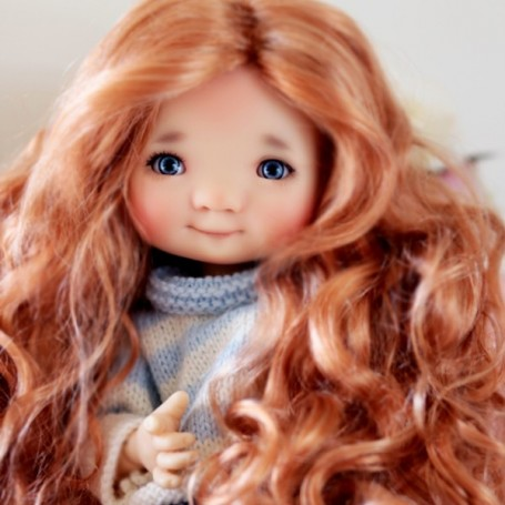DOLL WIG MONIQUE GINGER REDDISH BLOND FOR BARBIE FASHION ROYALTY RILEY DOLLS ...