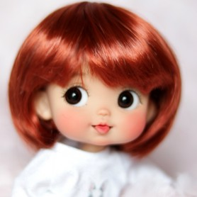 RED BOB DOLL WIG FOR CUSTOM BJD STODOLL OB11 CUSTOM SYBARITE AMYDOLL KKNER LATI YELLOW PUKIFEE DOLL