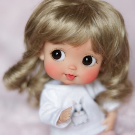 DOLL WIG COCOTTE FOR CUSTOM DOLL BJD STODOLL OB11 CUSTOM SYBARITE AMYDOLL KKNER LATI YELLOW PUKIFEE DOLL
