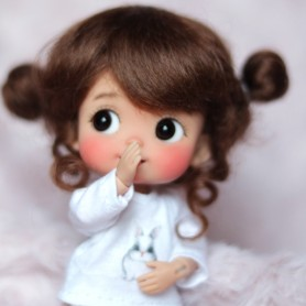 MOHAIR MACARON CHOCOLAT DOLL WIG FOR CUSTOM DOLL BJD STODOLL OB11 CUSTOM SYBARITE AMYDOLL KKNER LATI YELLOW PUKIFEE DOLL