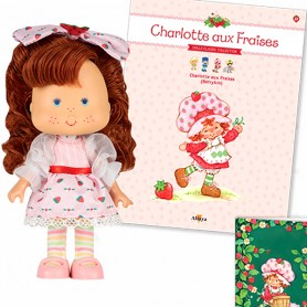 BERRYKIN DOLL + BOOK + CARD STRAWBERRY SHORTCAKE SCENTED DOLL CHARLOTTE AUX FRAISES DESIGN 1980