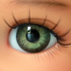 YEUX EN VERRE OVAL REAL VERT GREEN 6 mm GLASS EYES POUPÉE BJD MY MEADOW LATI WHITE BEAR REBORN DOLLMORE IPLEHOUSE DOLLS