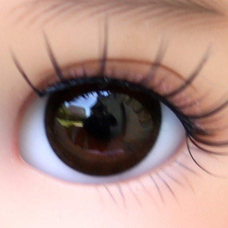OVAL REAL BROWN 12 mm PAPERWEIGHT GLASS EYES FOR DOLL BJD BALL JOINTED DOLL LATI YELLOW IPLEHOUSE DOLL