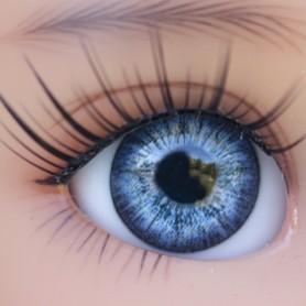 OVAL REAL CRISTAL BLUE 14 mm GLASS EYES FOR BJD DOLL IPLEHOUSE REBORN ....