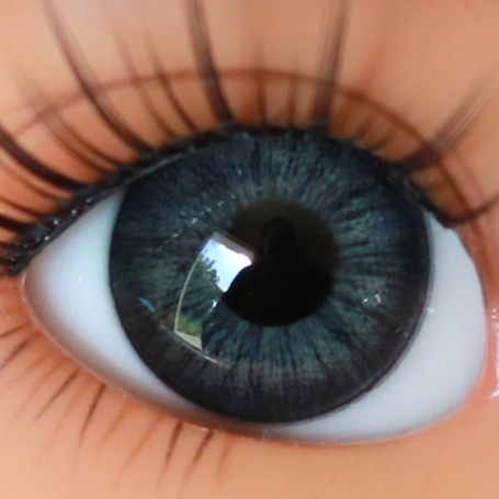 OVAL REAL ABSOLUTE DARK GREY 12 mm GLASS EYES FOR BJD LATI YELLOW IPLEHOUSE REBORN DOLL...