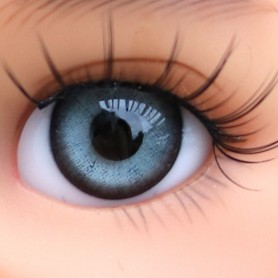 YEUX EN VERRE OVAL REAL GRIS ARDOISE 8 mm GLASS EYES POUPÉE BJD LATI WHITE BEAR REBORN DOLLMORE IPLEHOUSE DOLLS