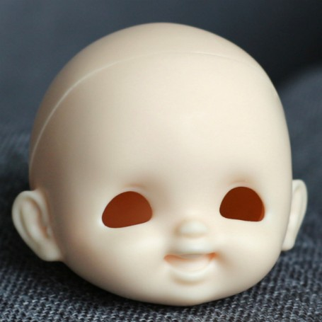 RESIN DOLL HEAD LAUGH NO MAKE UP READY TO CUSTOM STODOLL SWEET BABY BJD DOLL