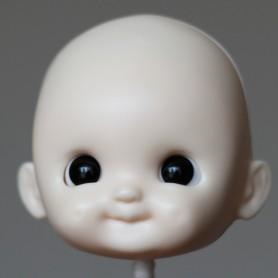 RESIN DOLL HEAD DIMPLES V5 NO MAKE UP READY TO CUSTOM STODOLL SWEET BABY BJD DOLL