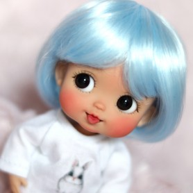 DOLL WIG COLOR BOB BJD STODOLL OB11 AMY DOLL LATI YELLOW PUKIFEE MEADOWDOLLS TWINKLES 5/6