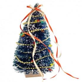 DECORATED CHRISTMAS TREE 18 CM MINIATURE BARBIE FASHION ROYALTY BJD LATI YELLOW BLYTHE PULLIP DOLLHOUSE DIORAMA 1:12 1:6