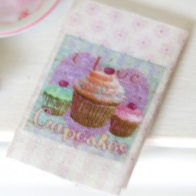 KITCHEN CUPCAKE CLOTH MINIATURE LATI YELLOW PUKIFEE DIORAMA DOLLHOUSE 1:12