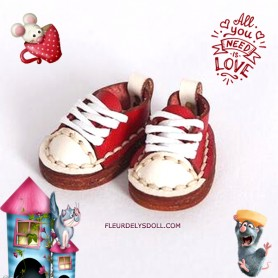 MINI REAL LEATHER DOLL SHOES FOR OB11 STODOLL KKNER AMY DOLL LATI WHITE SP PUKIPUKI OBITSU 11 MINI DOLLS