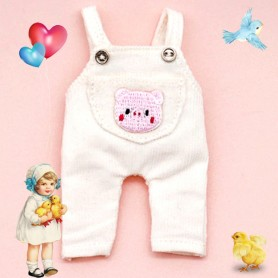 BEAR OVERALL OUTFIT FOR OB11 STODOLL AMYDOLL LATI WHITE SP PUKIPUKI OBITSU DOLLS