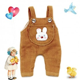 BUNNY OVERALL OUTFIT FOR OB11 STODOLL AMYDOLL LATI WHITE SP PUKIPUKI OBITSU DOLLS
