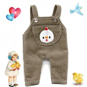 DUCK OVERALL OUTFIT FOR OB11 STODOLL AMYDOLL LATI WHITE SP PUKIPUKI OBITSU DOLLS