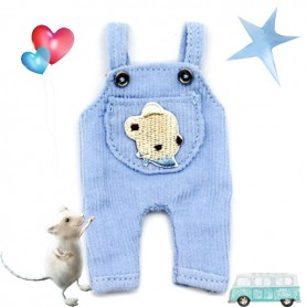 BLUE BEAR OVERALL OUTFIT FOR OB11 STODOLL AMYDOLL LATI WHITE SP PUKIPUKI OBITSU DOLLS