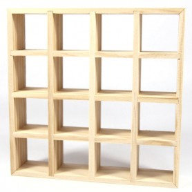 BIG IKEA DISPLAY SHELVES 4 X 4 MINIATURE DOLLHOUSE DIORAMA BJD DOLL STODOLL BLYTHE BARBIE PUKIFEE LATI YELLOW FURNITURE
