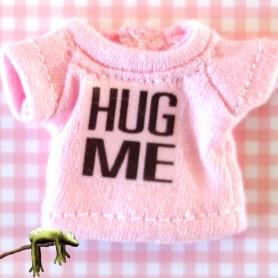 TEE SHIRT HUG ME POUR POUPEE OB11 STODOLL BJD AMYDOLL LATI WHITE SP PUKIPUKI OBITSU 11 CM DOLLS