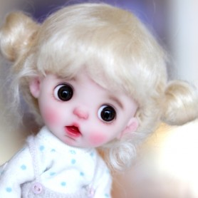 MOHAIR MACARON VANILLA DOLL WIG FOR CUSTOM DOLL BJD STODOLL OB11 CUSTOM SYBARITE AMYDOLL KKNER LATI YELLOW PUKIFEE DOLL