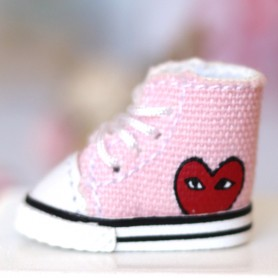 MINI PINK CONVERSE DOLL SHOES FOR OB11 STODOLL KKNER AMY DOLL LATI WHITE SP PUKIPUKI OBITSU 11 MINI DOLLS