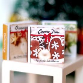 MINI CHRISTMAS BOOKS MINIATURE BARBIE FASHION ROYALTY BJD OB11 STODOLL LATI YELLOW BLYTHE PULLIP DOLLHOUSE DIORAMA