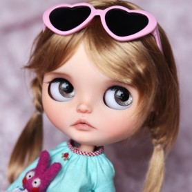 DOLL WIG CHOUPETTE HONEY BLOND 10.11 BJD MEADOWDOLLS MAE ADRYN ZWERGNASE BLYTHE CUSTOM DOLLS ...