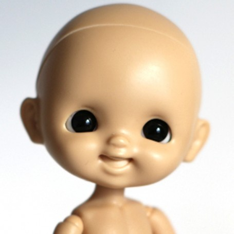 copy of RESIN DOLL HEAD EGGY TAN NO MAKE UP READY TO CUSTOM STODOLL SWEET BABY BJD DOLL