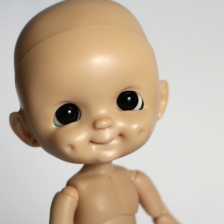 RESIN DOLL HEAD DIMPLES TAN NO MAKE UP READY TO CUSTOM STODOLL SWEET BABY BJD DOLL