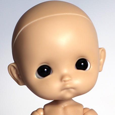 RESIN DOLL HEAD EGGY TAN NO MAKE UP READY TO CUSTOM STODOLL SWEET BABY BJD DOLL