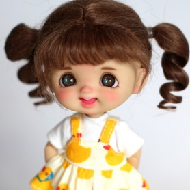 POUPEE STODOLL DOLL BEBE LAUGH TAN NOISETTE ORIGINAL EXCLUSIVE DOLL OB11 CORPS YMY OU DDF TAILLE OB11 & AMYDOLL