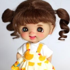 STODOLL BABY DOLL EGGY TAN PRALINE ORIGINAL EXCLUSIVE DOLL WITH A YMY OR DDF BODY OB11 AMYDOLL SIZE