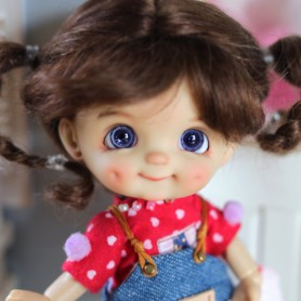 POUPEE STODOLL DOLL BEBE DIMPLES TAN CACAHUETTE ORIGINAL EXCLUSIVE DOLL OB11 CORPS YMY OU DDF TAILLE OB11 & AMYDOLL
