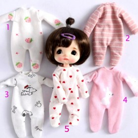 LOVELY PYJAMA OUTFIT FOR BJD DOLL OB11 STODOLL AMY DOLL KKNER LATI WHITE SP PUKIPUKI OBITSU DOLLS