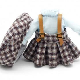 TIT PARISIAN DRESS + SHIRT + HAT OUTFIT FOR BJD OB11 NENDOROID STODOLL AMYDOLL LATI WHITE SP PUKIPUKI OBITSU DOLLS