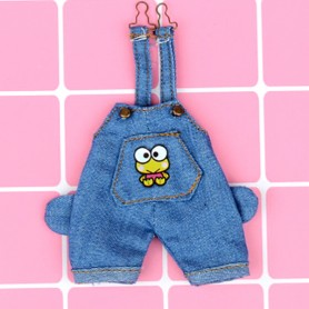 FUNNY FROG DENIM OVERALL OUTFIT FOR STODOLL OB11 AMYDOLL BJD LATI WHITE SP OBITSU 11 DOLLS