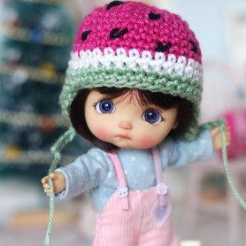 WATERMELON HAT FOR BJD DOLL OB11 STODOLL AMY DOLL LATI WHITE SP PUKIPUKI OBITSU 11 MINI DOLLS