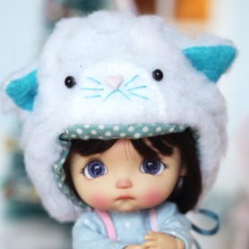 BLUE KITTY HAT FOR BJD DOLL OB11 STODOLL AMY DOLL LATI WHITE SP PUKIPUKI OBITSU 11 MINI DOLLS