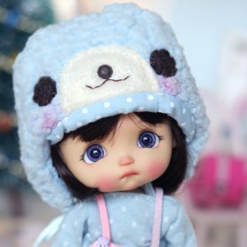 BLUE LOVELY HAT FOR BJD DOLL OB11 STODOLL AMY DOLL LATI WHITE SP PUKIPUKI OBITSU 11 MINI DOLLS