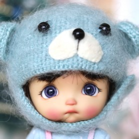 BABY BEAR HAT FOR BJD DOLL OB11 STODOLL AMY DOLL LATI WHITE SP PUKIPUKI OBITSU 11 MINI DOLLS