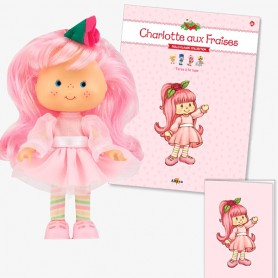 ROSE PIE 33 + BOOK + CARD STRAWBERRY SHORTCAKE SCENTED DOLL CHARLOTTE AUX FRAISES DESIGN 1980