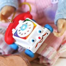 TINY CHATTER TELEPHONE FISHER PRICE 2017 MINIATURE BJD STODOLL OB11 LATI YELLOW PUKIFEE AMYDOLL DIORAMA DOLLHOUSE